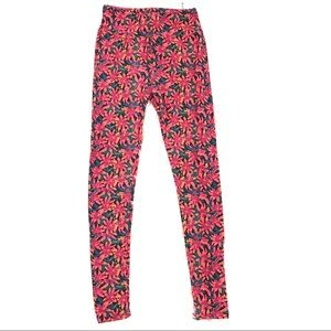 LulaRoe One Size Soft Floral Skinny Leggings Pants